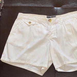 Sanctuary Shorts - Sanctuary White Boyfriend Baggy Short